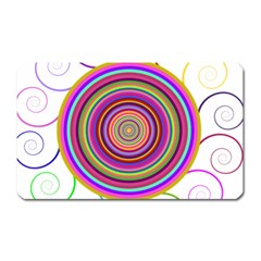 Abstract Spiral Circle Rainbow Color Magnet (rectangular)