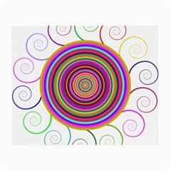 Abstract Spiral Circle Rainbow Color Small Glasses Cloth