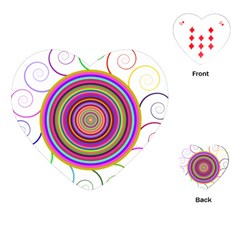 Abstract Spiral Circle Rainbow Color Playing Cards (Heart)