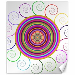 Abstract Spiral Circle Rainbow Color Canvas 20  x 24