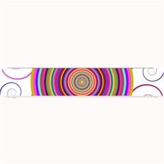 Abstract Spiral Circle Rainbow Color Small Bar Mats