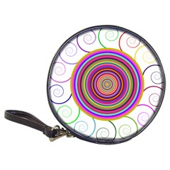Abstract Spiral Circle Rainbow Color Classic 20-CD Wallets