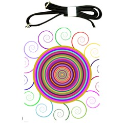Abstract Spiral Circle Rainbow Color Shoulder Sling Bags