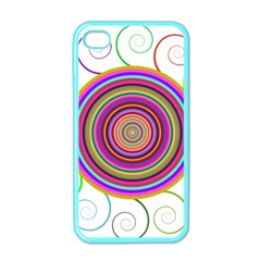 Abstract Spiral Circle Rainbow Color Apple iPhone 4 Case (Color)
