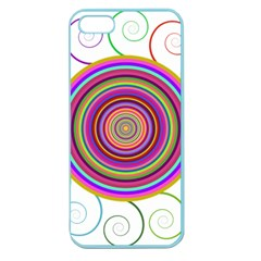 Abstract Spiral Circle Rainbow Color Apple Seamless iPhone 5 Case (Color)