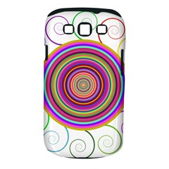 Abstract Spiral Circle Rainbow Color Samsung Galaxy S III Classic Hardshell Case (PC+Silicone)