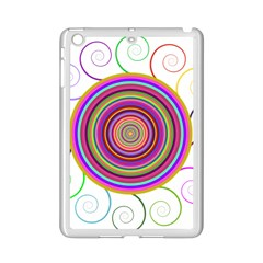 Abstract Spiral Circle Rainbow Color iPad Mini 2 Enamel Coated Cases