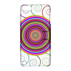 Abstract Spiral Circle Rainbow Color Apple iPod Touch 5 Hardshell Case with Stand