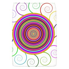 Abstract Spiral Circle Rainbow Color Flap Covers (S)