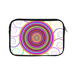 Abstract Spiral Circle Rainbow Color Apple iPad Mini Zipper Cases