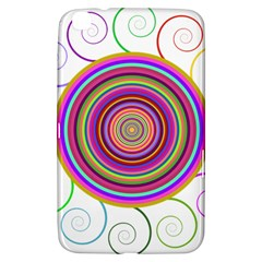 Abstract Spiral Circle Rainbow Color Samsung Galaxy Tab 3 (8 ) T3100 Hardshell Case