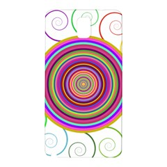 Abstract Spiral Circle Rainbow Color Samsung Galaxy Note 3 N9005 Hardshell Back Case