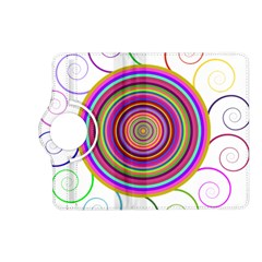 Abstract Spiral Circle Rainbow Color Kindle Fire HD (2013) Flip 360 Case