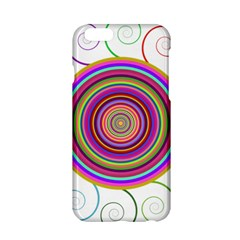 Abstract Spiral Circle Rainbow Color Apple iPhone 6/6S Hardshell Case