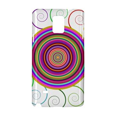 Abstract Spiral Circle Rainbow Color Samsung Galaxy Note 4 Hardshell Case