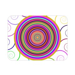 Abstract Spiral Circle Rainbow Color Double Sided Flano Blanket (Mini)
