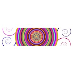 Abstract Spiral Circle Rainbow Color Satin Scarf (Oblong)