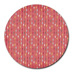 Circle Red Freepapers Paper Round Mousepads