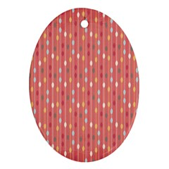 Circle Red Freepapers Paper Ornament (oval)