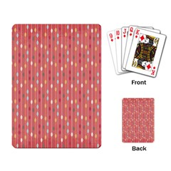Circle Red Freepapers Paper Playing Card