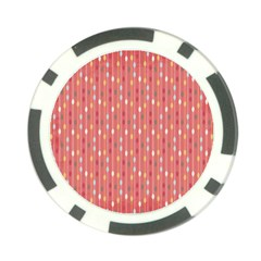 Circle Red Freepapers Paper Poker Chip Card Guard (10 pack)