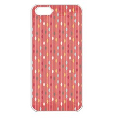 Circle Red Freepapers Paper Apple iPhone 5 Seamless Case (White)