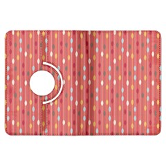 Circle Red Freepapers Paper Kindle Fire HDX Flip 360 Case