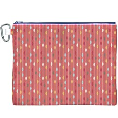 Circle Red Freepapers Paper Canvas Cosmetic Bag (XXXL)