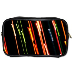 Colorful Diagonal Lights Lines Toiletries Bags