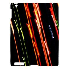 Colorful Diagonal Lights Lines Apple iPad 3/4 Hardshell Case