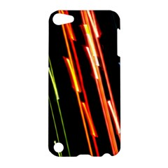 Colorful Diagonal Lights Lines Apple iPod Touch 5 Hardshell Case