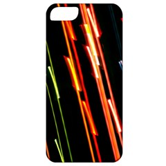 Colorful Diagonal Lights Lines Apple iPhone 5 Classic Hardshell Case