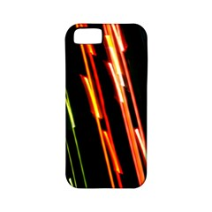 Colorful Diagonal Lights Lines Apple iPhone 5 Classic Hardshell Case (PC+Silicone)