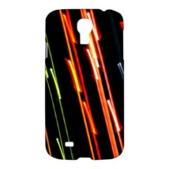 Colorful Diagonal Lights Lines Samsung Galaxy S4 I9500/I9505 Hardshell Case