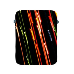 Colorful Diagonal Lights Lines Apple iPad 2/3/4 Protective Soft Cases