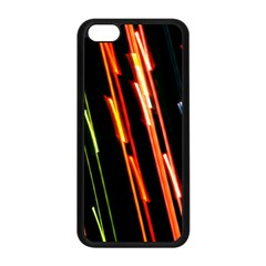 Colorful Diagonal Lights Lines Apple iPhone 5C Seamless Case (Black)