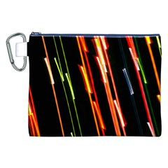 Colorful Diagonal Lights Lines Canvas Cosmetic Bag (XXL)