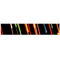 Colorful Diagonal Lights Lines Flano Scarf (Large)