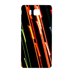 Colorful Diagonal Lights Lines Samsung Galaxy Alpha Hardshell Back Case