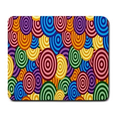 Circles Color Yellow Purple Blu Pink Orange Illusion Large Mousepads
