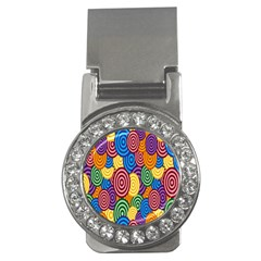 Circles Color Yellow Purple Blu Pink Orange Illusion Money Clips (cz)