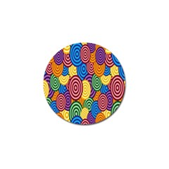 Circles Color Yellow Purple Blu Pink Orange Illusion Golf Ball Marker