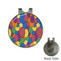 Circles Color Yellow Purple Blu Pink Orange Illusion Hat Clips with Golf Markers