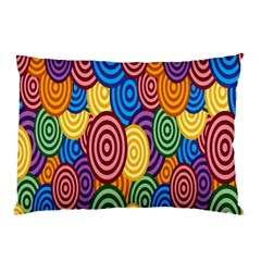 Circles Color Yellow Purple Blu Pink Orange Illusion Pillow Case