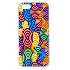 Circles Color Yellow Purple Blu Pink Orange Illusion Apple Seamless iPhone 5 Case (Clear)