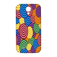 Circles Color Yellow Purple Blu Pink Orange Illusion Samsung Galaxy S4 I9500/I9505  Hardshell Back Case