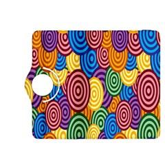 Circles Color Yellow Purple Blu Pink Orange Illusion Kindle Fire HDX 8.9  Flip 360 Case