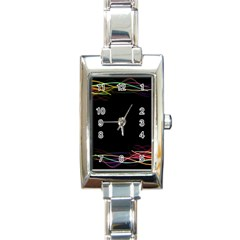 Colorful Light Frame Line Rectangle Italian Charm Watch