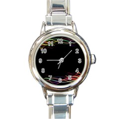 Colorful Light Frame Line Round Italian Charm Watch