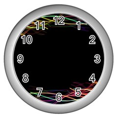 Colorful Light Frame Line Wall Clocks (silver)